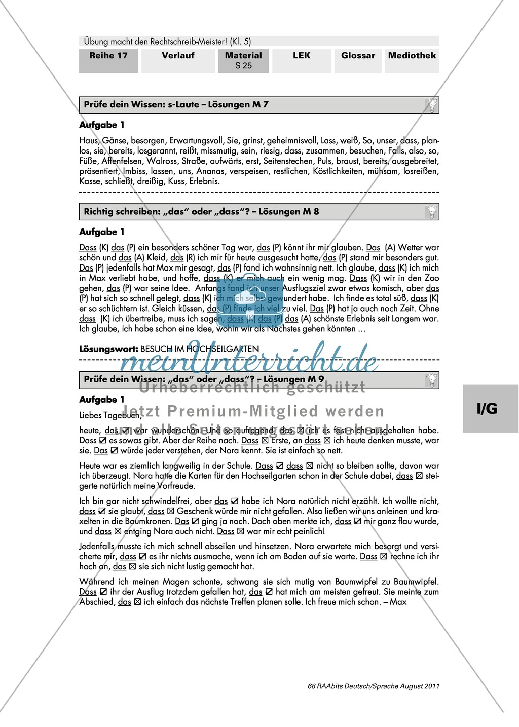 Rechtschreibung: S-Laute Preview 3