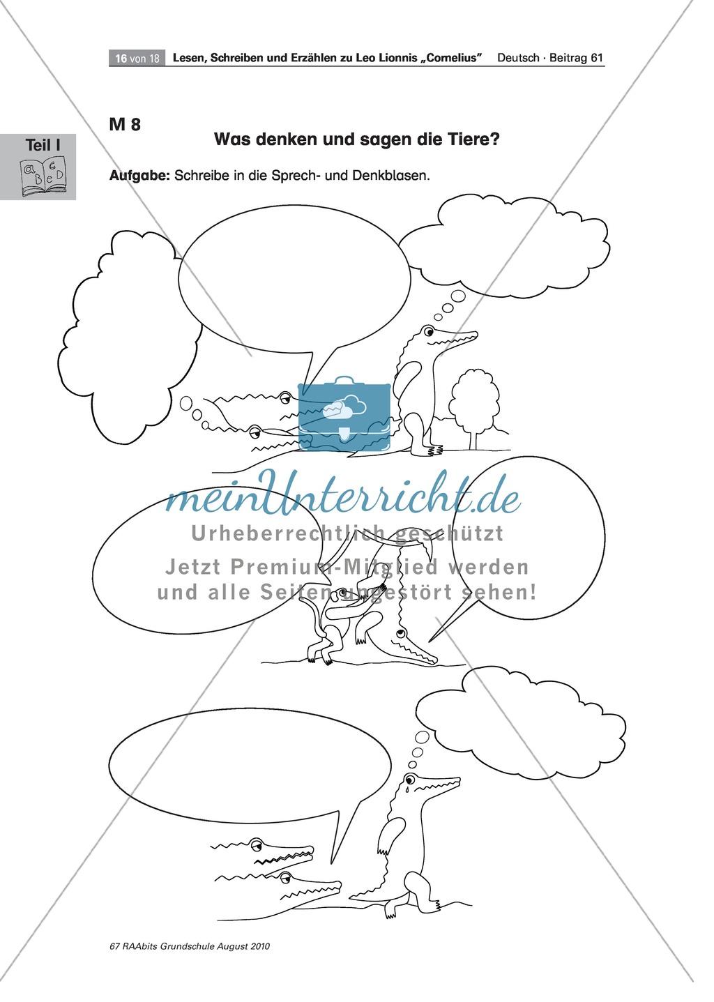 """Übungen zum Leseverstehen und produktive Methoden zur Erschließung der Bildergeschichte """"Cornelius"""" Preview 11"""