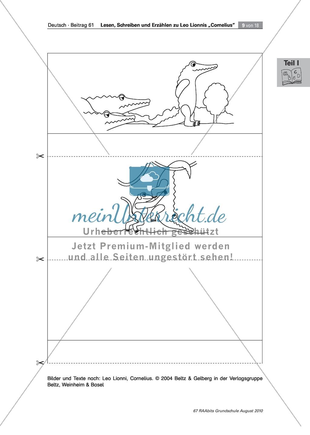 """Übungen zum Leseverstehen und produktive Methoden zur Erschließung der Bildergeschichte """"Cornelius"""" Preview 4"""
