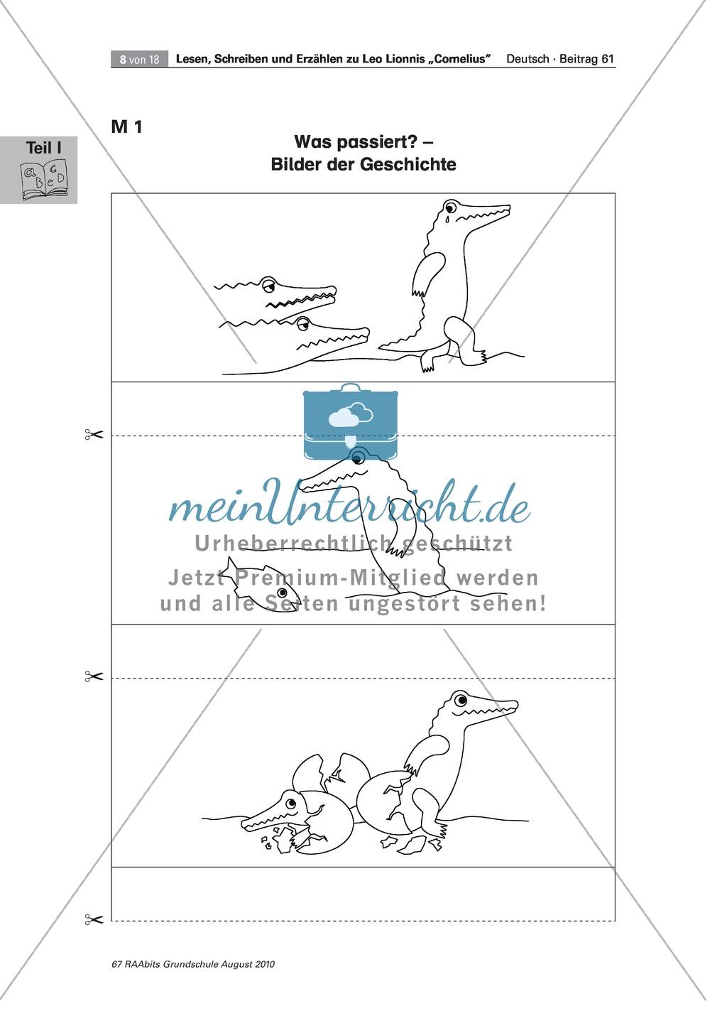 """Wir lesen das Bilderbuch """"Cornelius"""": Gesamtes Material Preview 8"""