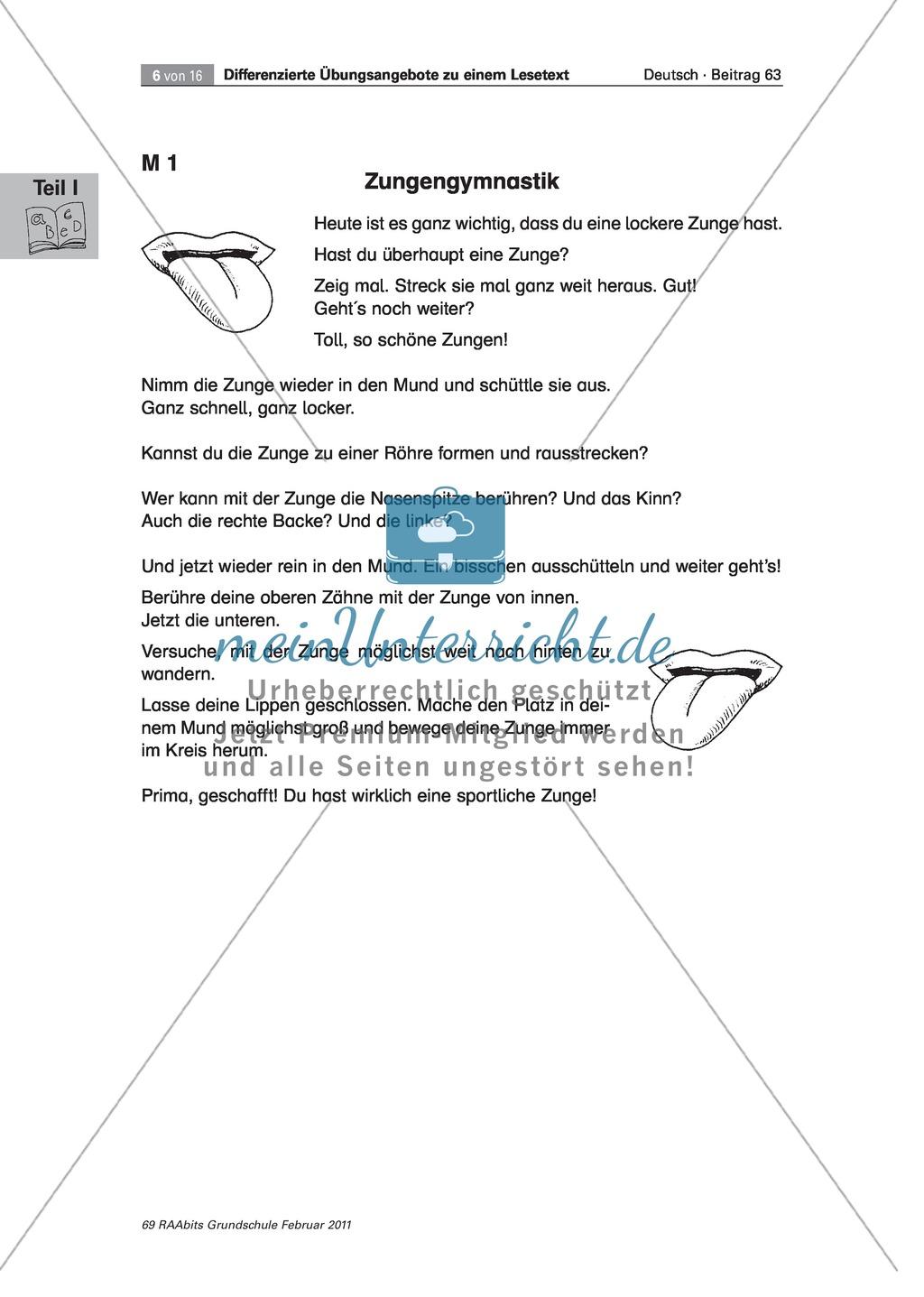 Anleitung zur Zungengymnastik Preview 1
