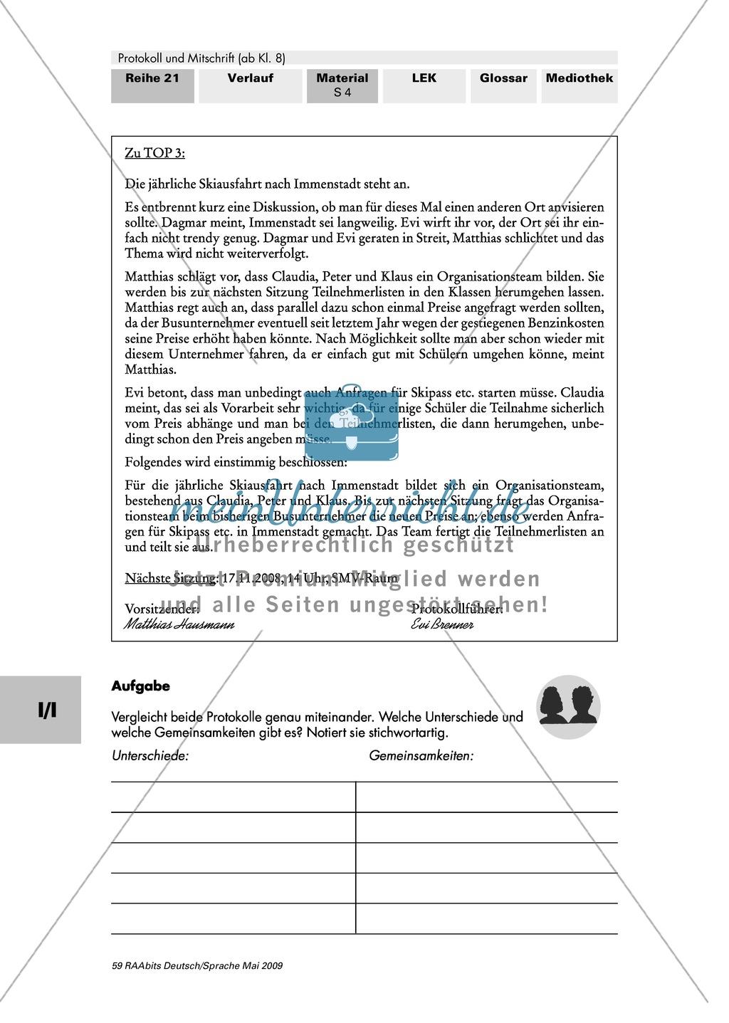 Verschiedene Arten von Protokollen: Ergebnis- und Verlaufsprotokoll Preview 2