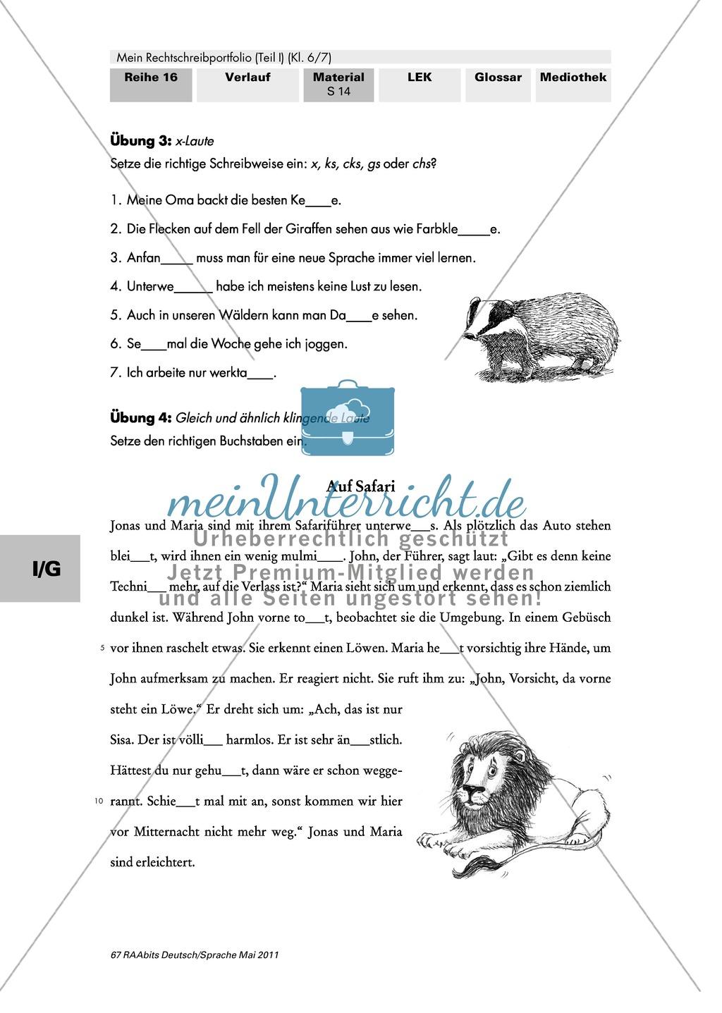 Gezielte Übungen für den individuellen Trainingsschwerpunkt und zur Überprüfung des Lernfortschritts - Thema Rechtschreibung Preview 1