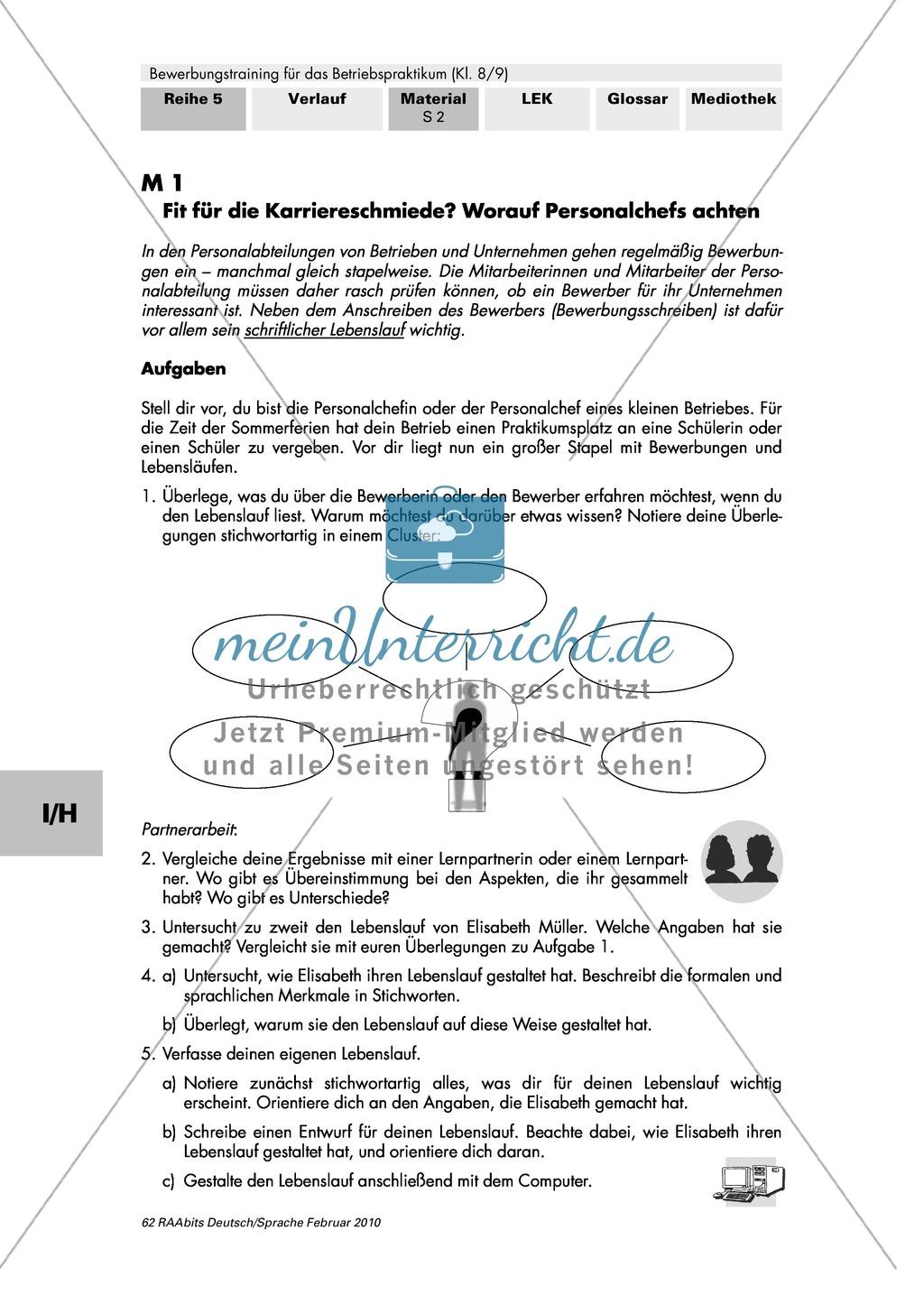 Lebenslauf und Anschreiben zielorientiert, überzeugend und formal korrekt schreiben Preview 0