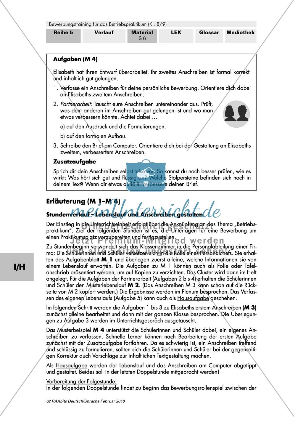 Lebenslauf und Anschreiben zielorientiert, überzeugend und formal korrekt schreiben Preview 4
