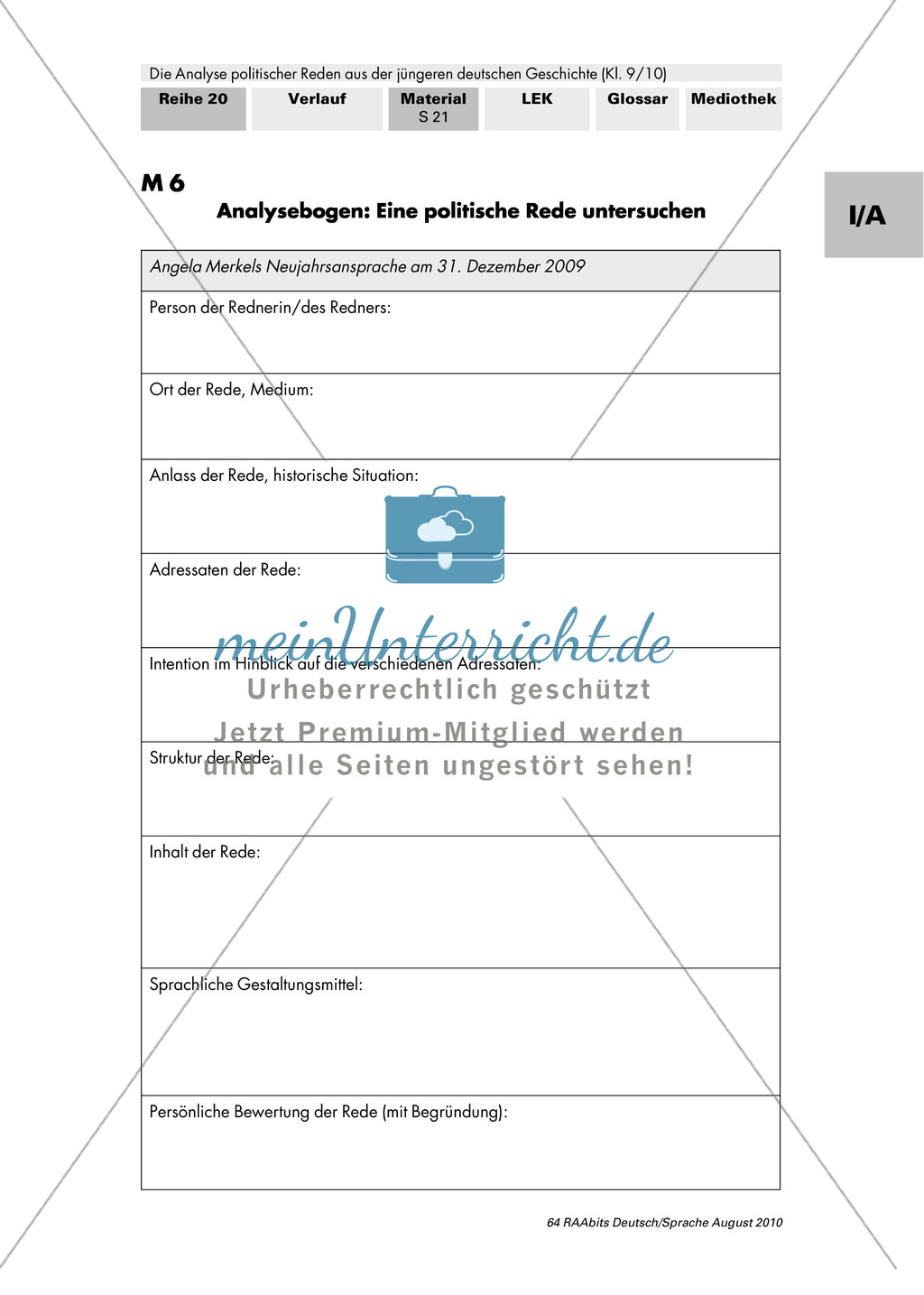 Angela Merkels Neujahrsansprache 2009: Analyse und eigenständige Kontrolle der Analyseergebnisse Preview 2