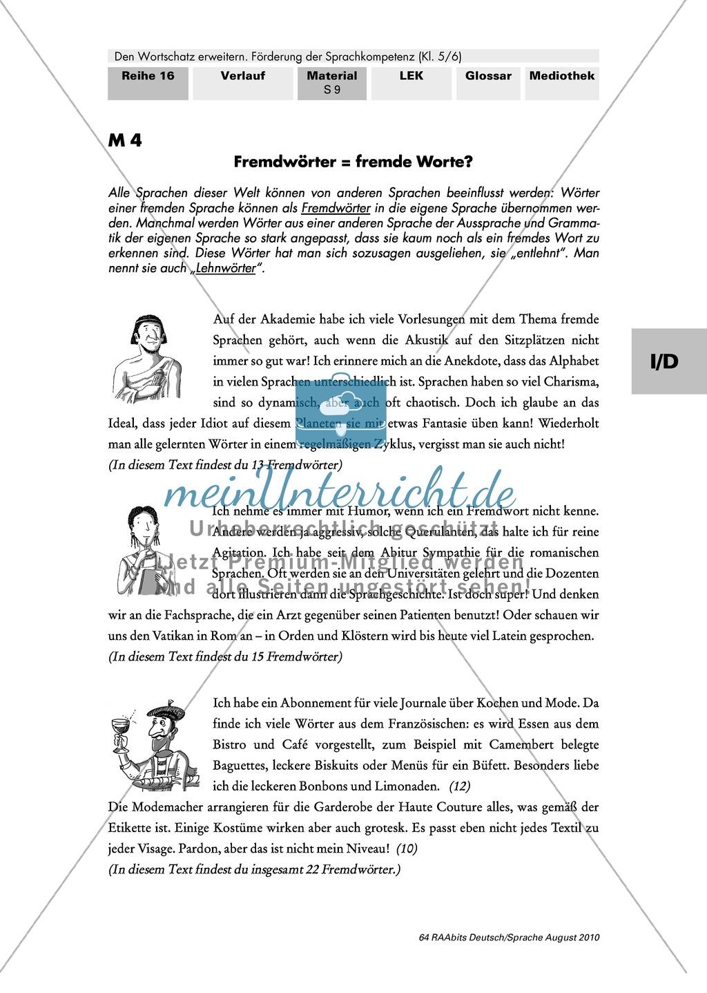 Fremdwörter identifizieren und ihre sprachliche Angemessenheit beurteilen Preview 0