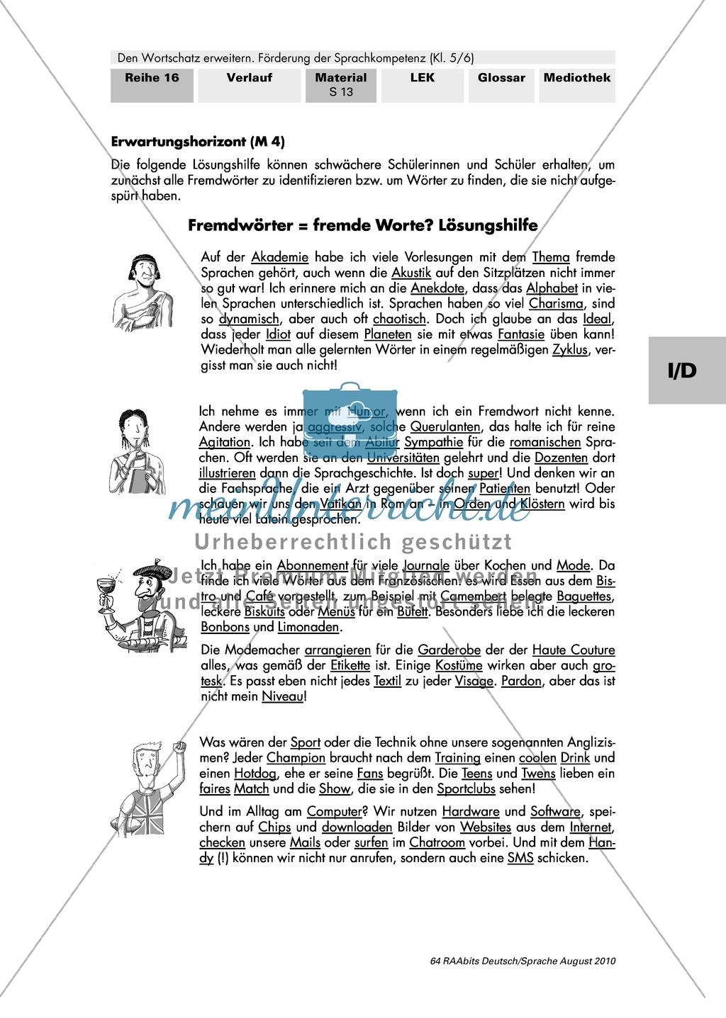Fremdwörter identifizieren und ihre sprachliche Angemessenheit beurteilen Preview 3