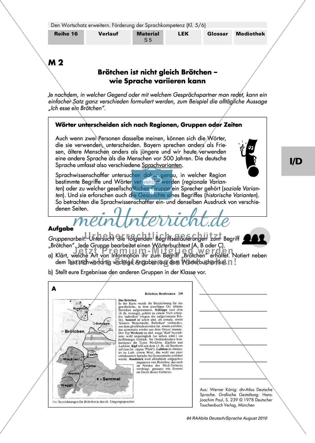 Verschiedene Sprachebenen und ihre Beschreibung in Fachwörterbüchern kennen Preview 0