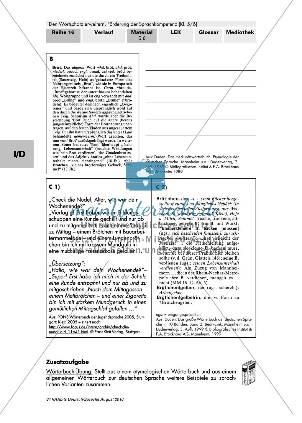 Verschiedene Sprachebenen und ihre Beschreibung in Fachwörterbüchern kennen Preview 1