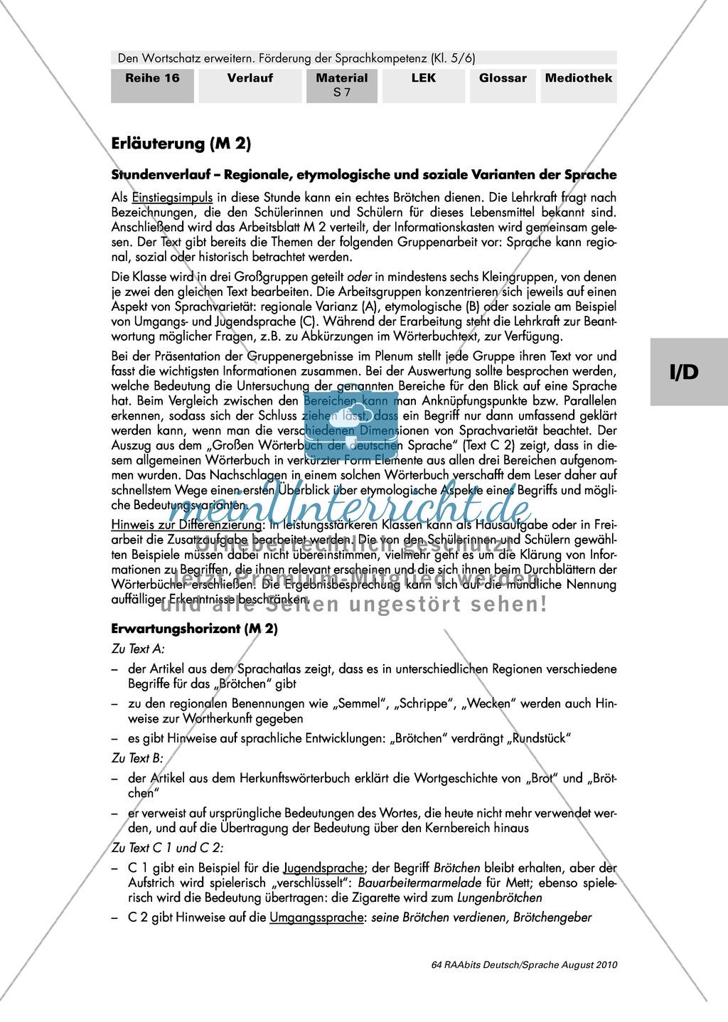 Verschiedene Sprachebenen und ihre Beschreibung in Fachwörterbüchern kennen Preview 2