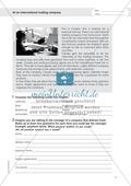 Working at an international trading company: Wortschatz internationales Handelsunternehmen + Übungen zum Passiv Preview 1