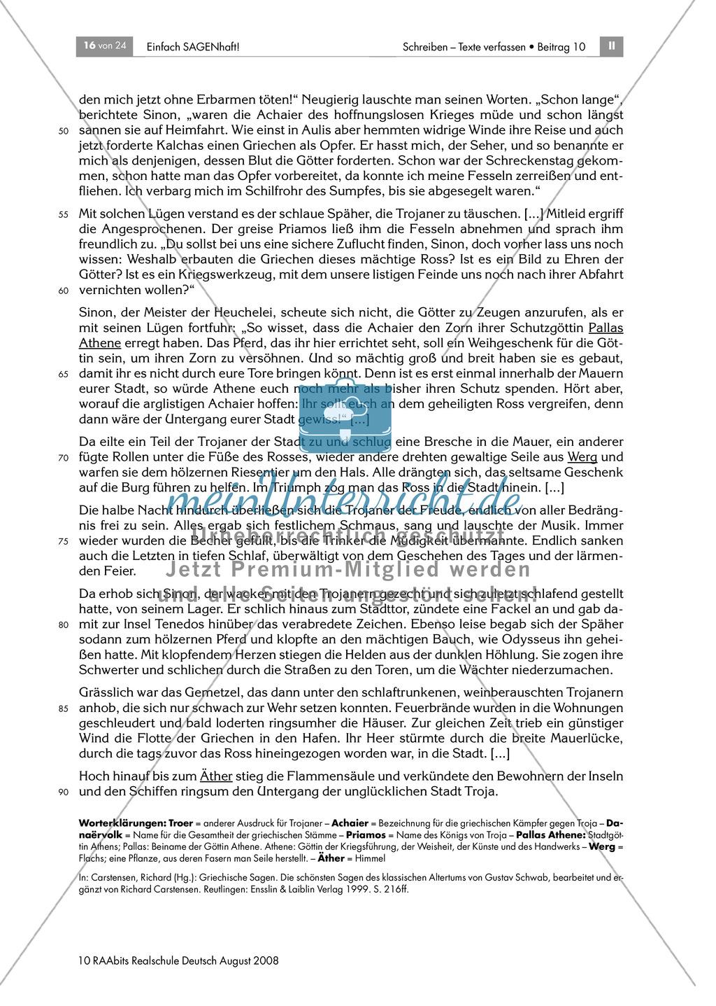 Das Trojanische Pferd: Einen Überblick über die Sage gewinnen Preview 5