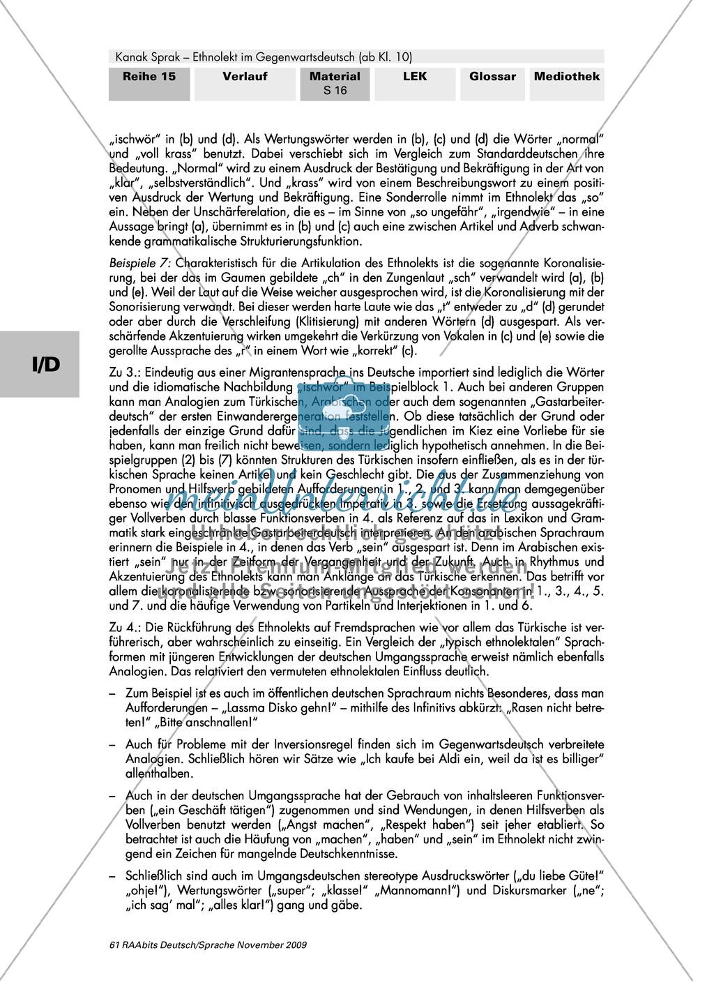 Importe, Verkürzungen, Abweichungen - Ethnolekt Preview 4