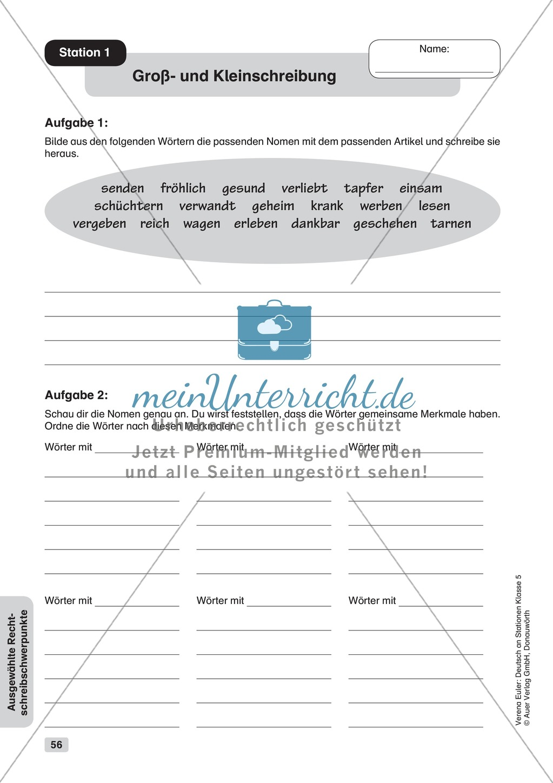 Ziemlich Gemeinsame Und Eigennamen Arbeitsblatt 1Klasse ...