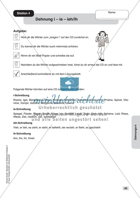Dehnungs -h: Übungen + Lösungen Preview 4