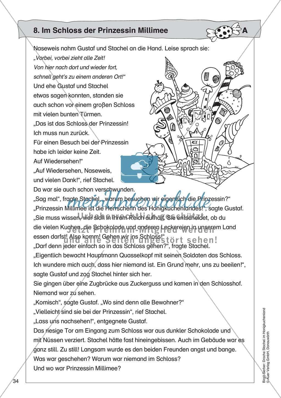Im Schloss der Prinzessin Millimee: Lesetext + Arbeitsblatt Preview 0