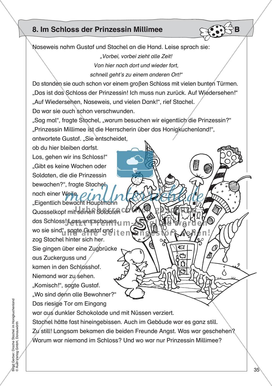 Im Schloss der Prinzessin Millimee: Lesetext + Arbeitsblatt Preview 1