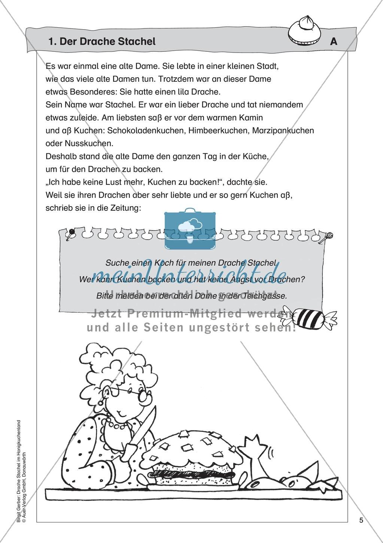 Der Drache Stachel: Lesetext + Arbeitsblatt Preview 0
