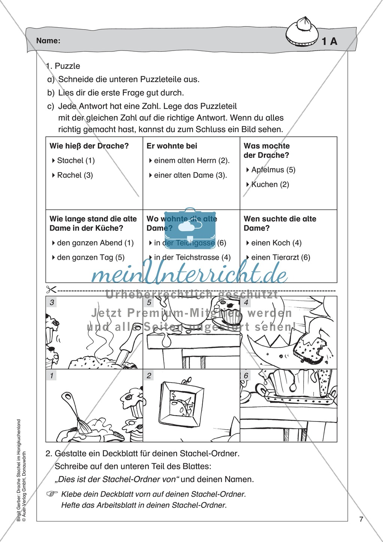 Der Drache Stachel: Lesetext + Arbeitsblatt Preview 2