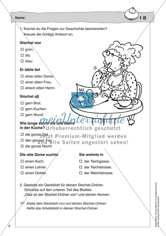 Der Drache Stachel: Lesetext + Arbeitsblatt Preview 3