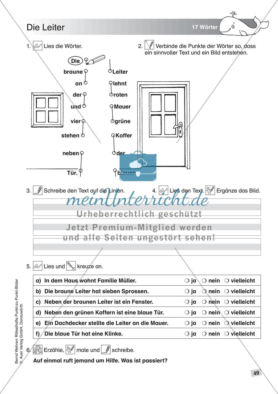 Schwierige Punkt-zu-Punkt-Bilder: Übung + Lösung Preview 1