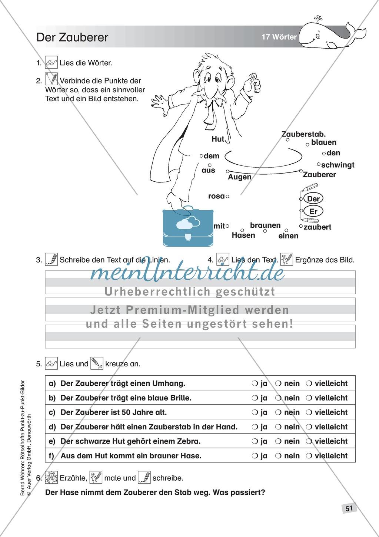 Schwierige Punkt-zu-Punkt-Bilder: Übung + Lösung Preview 3