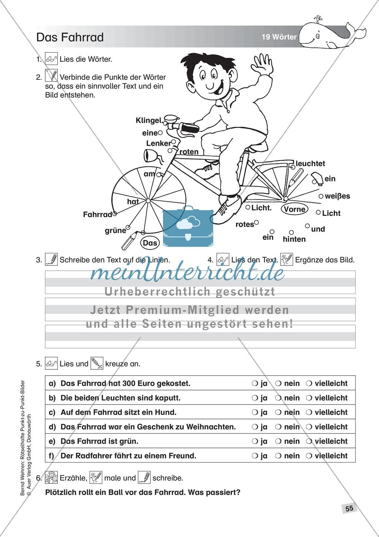 Schwierige Punkt-zu-Punkt-Bilder: Übung + Lösung Preview 7