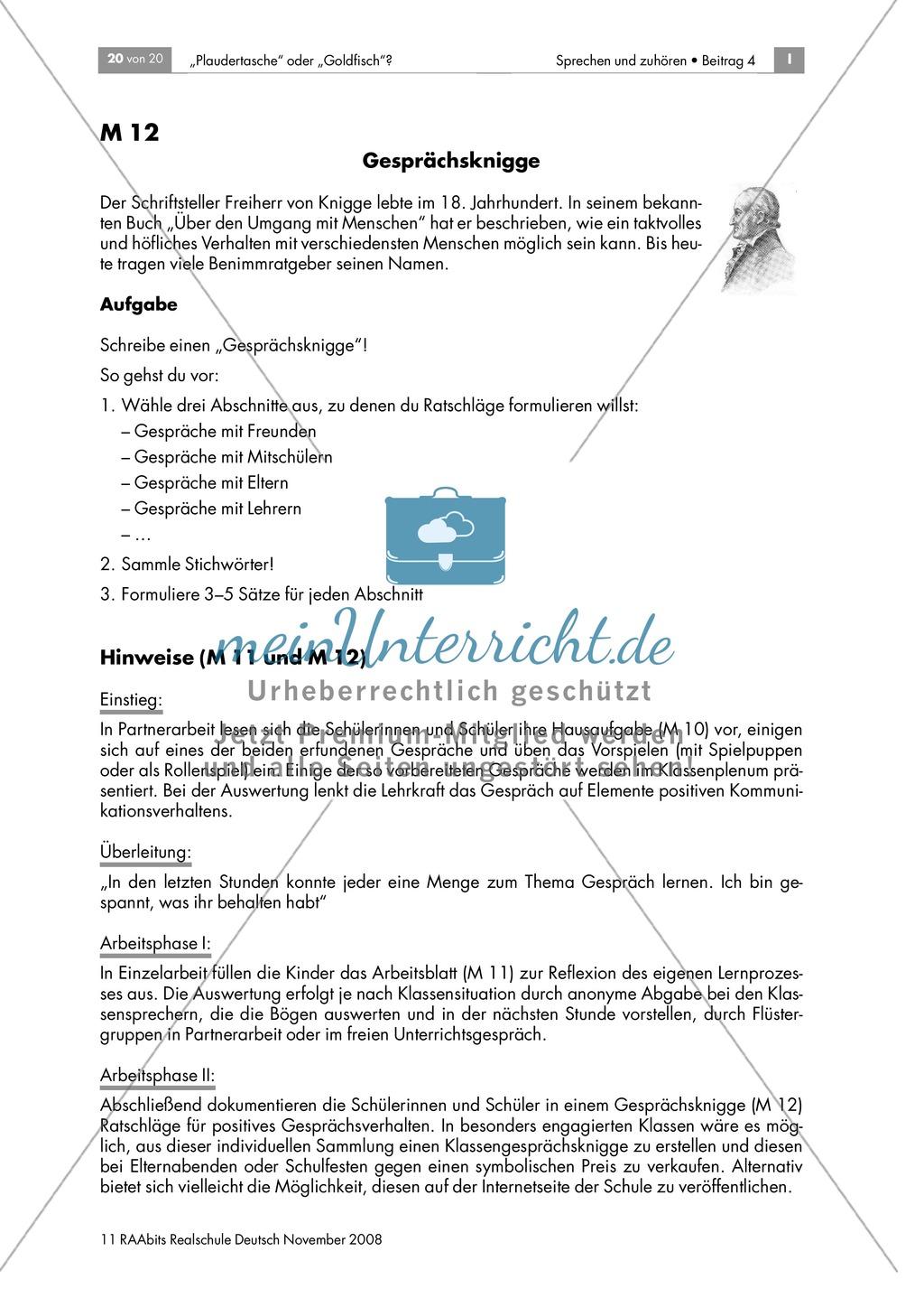 Lernerfolgskontrolle: Lernprozesse festhalten und reflektieren - Gesprächsverhalten Preview 1