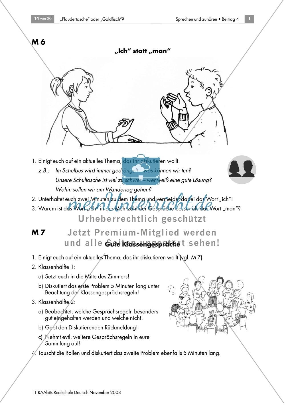 Angemessene Ausdrucksweisen finden - Wünschenswertes Gesprächsverhalten reflektieren und einüben Preview 0