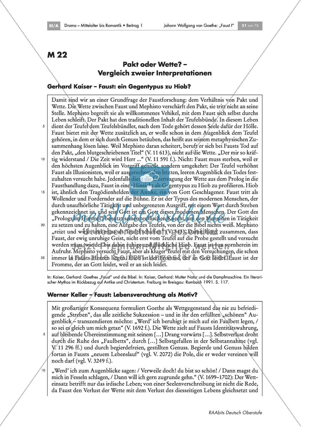 """Johann Wolfgang von Goethe - """"Faust I"""": Die Gelehrtentragödie - die Wette mit Mephisto Preview 9"""