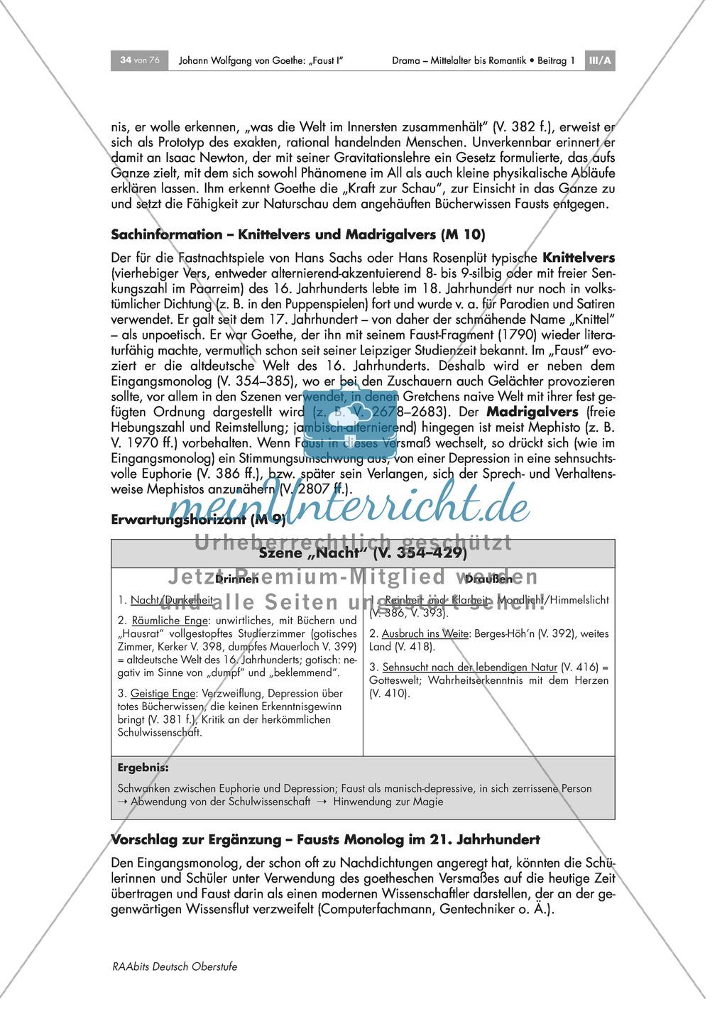 Versmaß: Knittelvers und Madrigalvers in