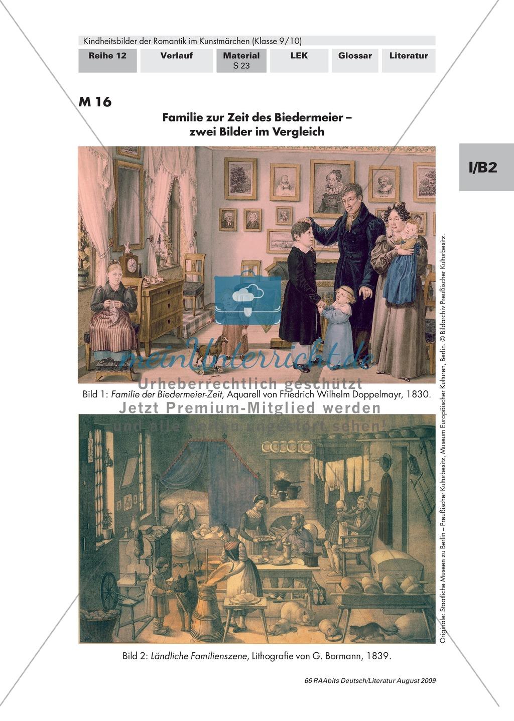 Kindheitsbilder der Romantik im Kunstmärchen: Familienbilder der Epochen Aufklärung, Romantik, Biedermeier im Kontrast Preview 4