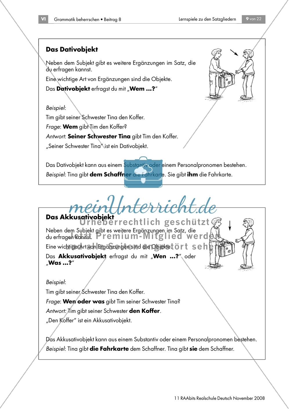Mit der Umstellprobe Satzglieder unterscheiden und das Prädikat bestimmen Preview 4