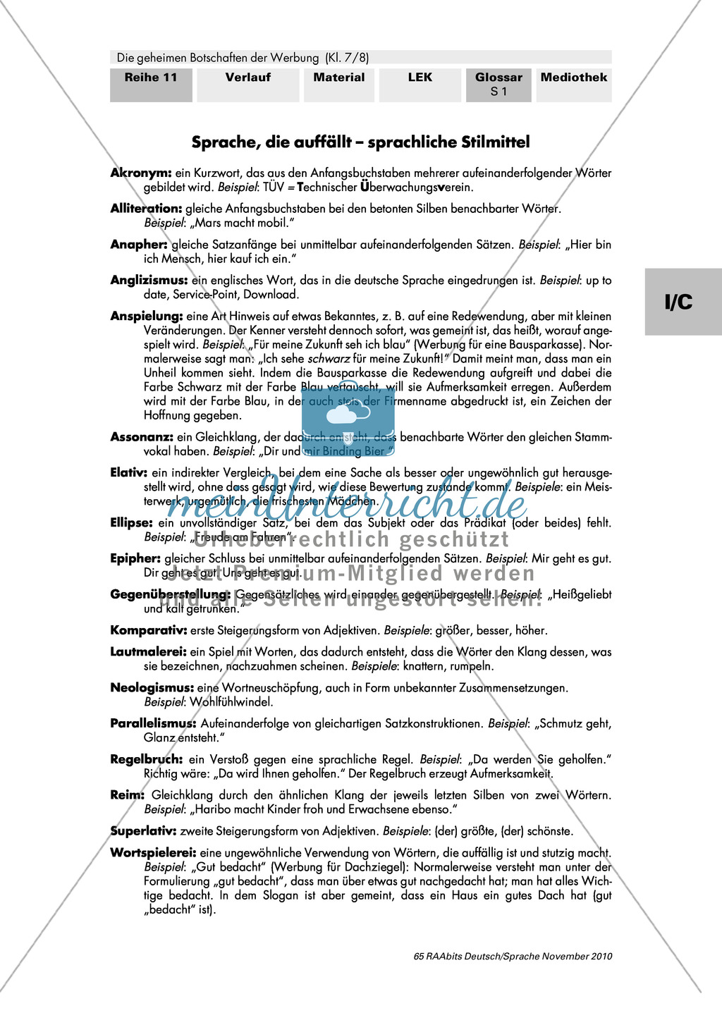Thema Werbung: Sprachliche Stilmittel Preview 0