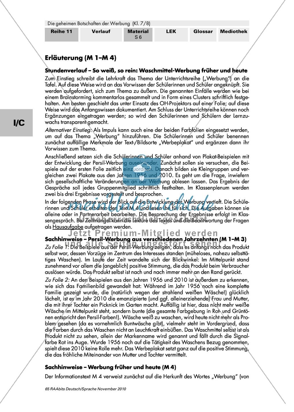 Werbung früher und heute: Werbung als gesellschaftliches Phänomen verstehen, Geschichte und Funktion der Werbung herausarbeiten Preview 5
