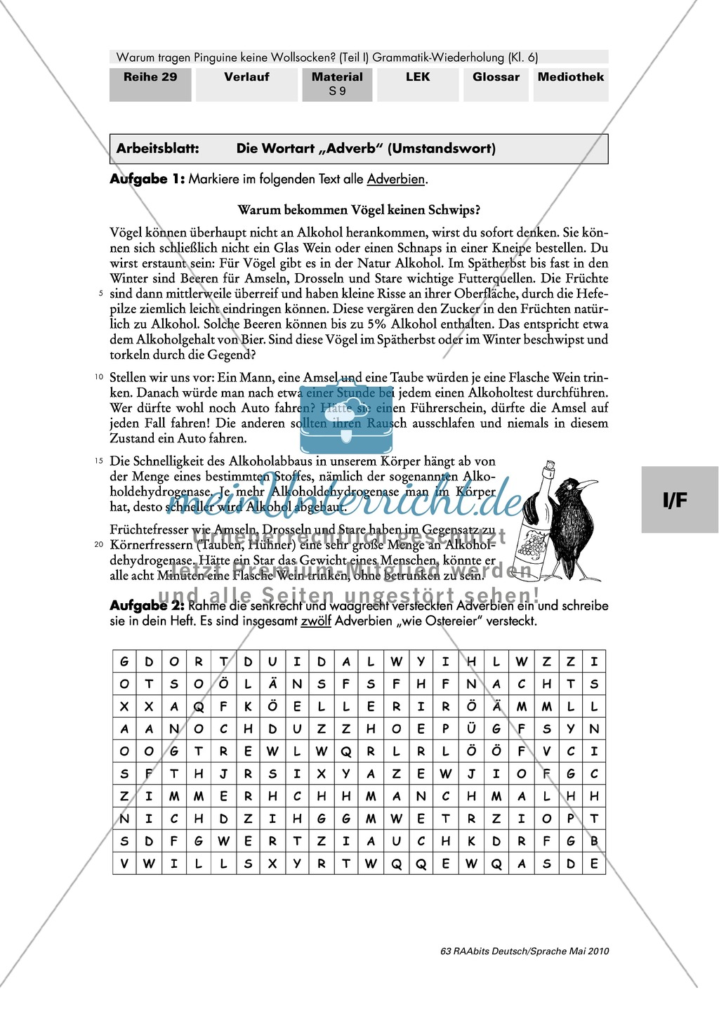 Warum tragen Pinguine keine Wollsocken? Eine individuelle Grammatik-Wiederholung zu den Wortarten Preview 14