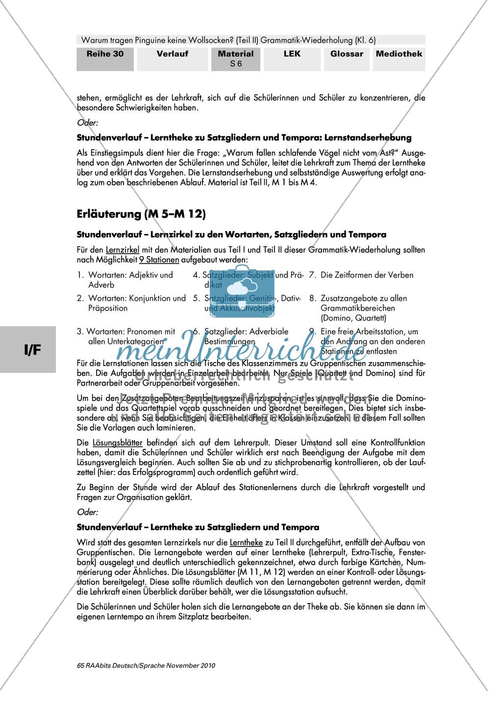 Lernangebote zu den Satzgliedern: Subjekt, Prädikat, Objekt ...