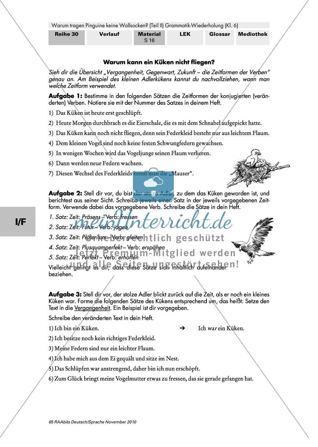 Zeitformen der Verben Preview 1