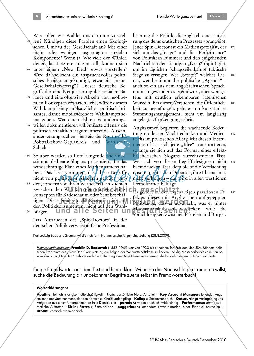Anglizismen und die deutsche Sprache Preview 2