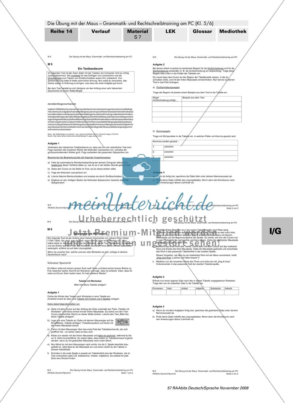 Rechtschreibtraining am PC: Zeichensetzung und Bestimmung von ...