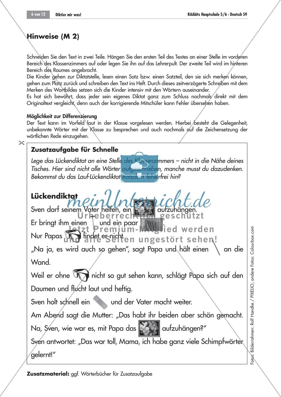 Übungen und Strategien zum korrekten Schreiben: Diktate Preview 4