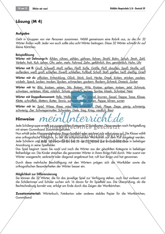 Übung und Strategien zum korrekten Schreiben: Wörterbingo + Kreuzworträtsel Preview 1