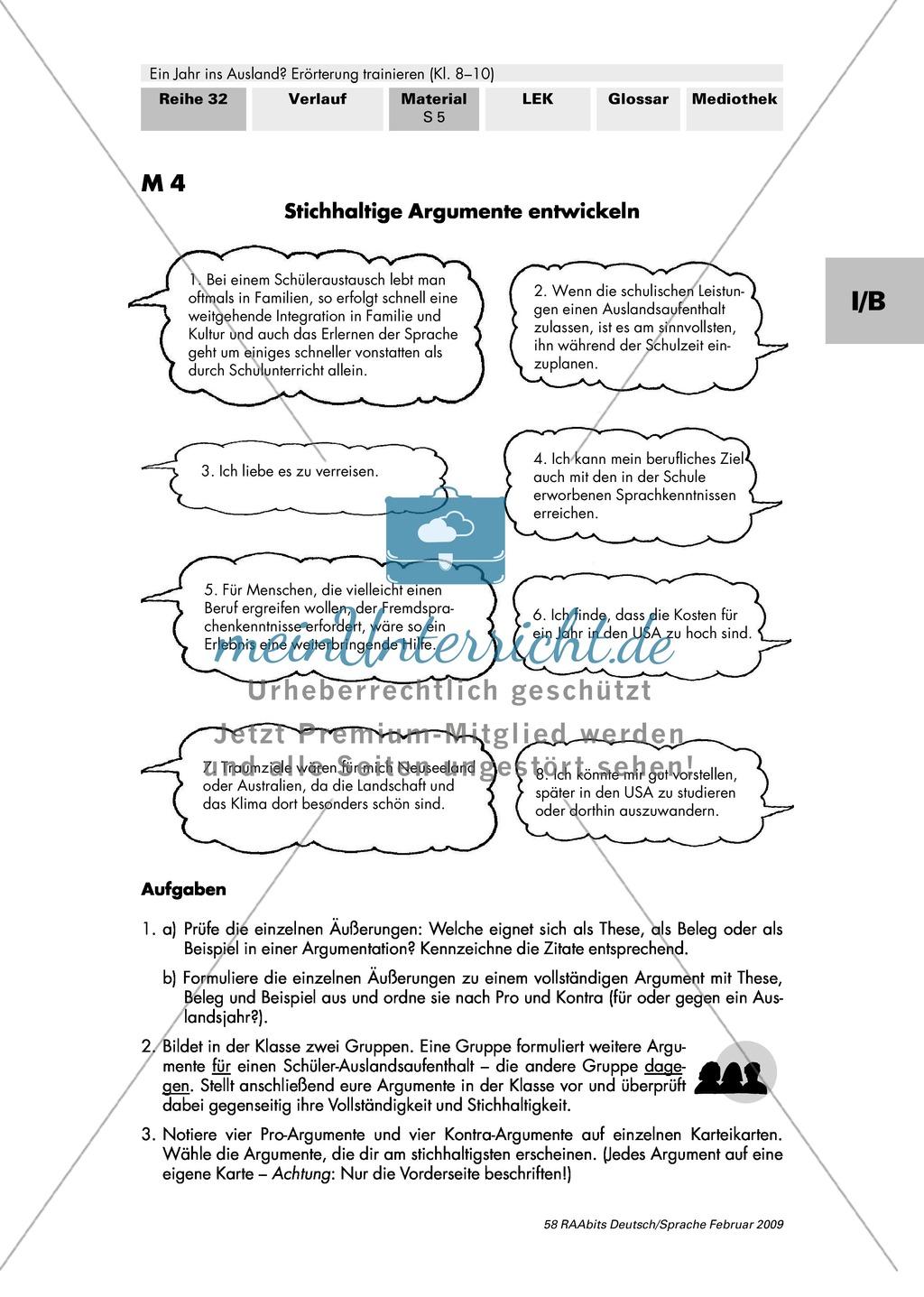 argumente in errterungen anordnen argumentationsbaum aufbau einer dialektischen errterung preview 1 - Dialektische Errterung Muster