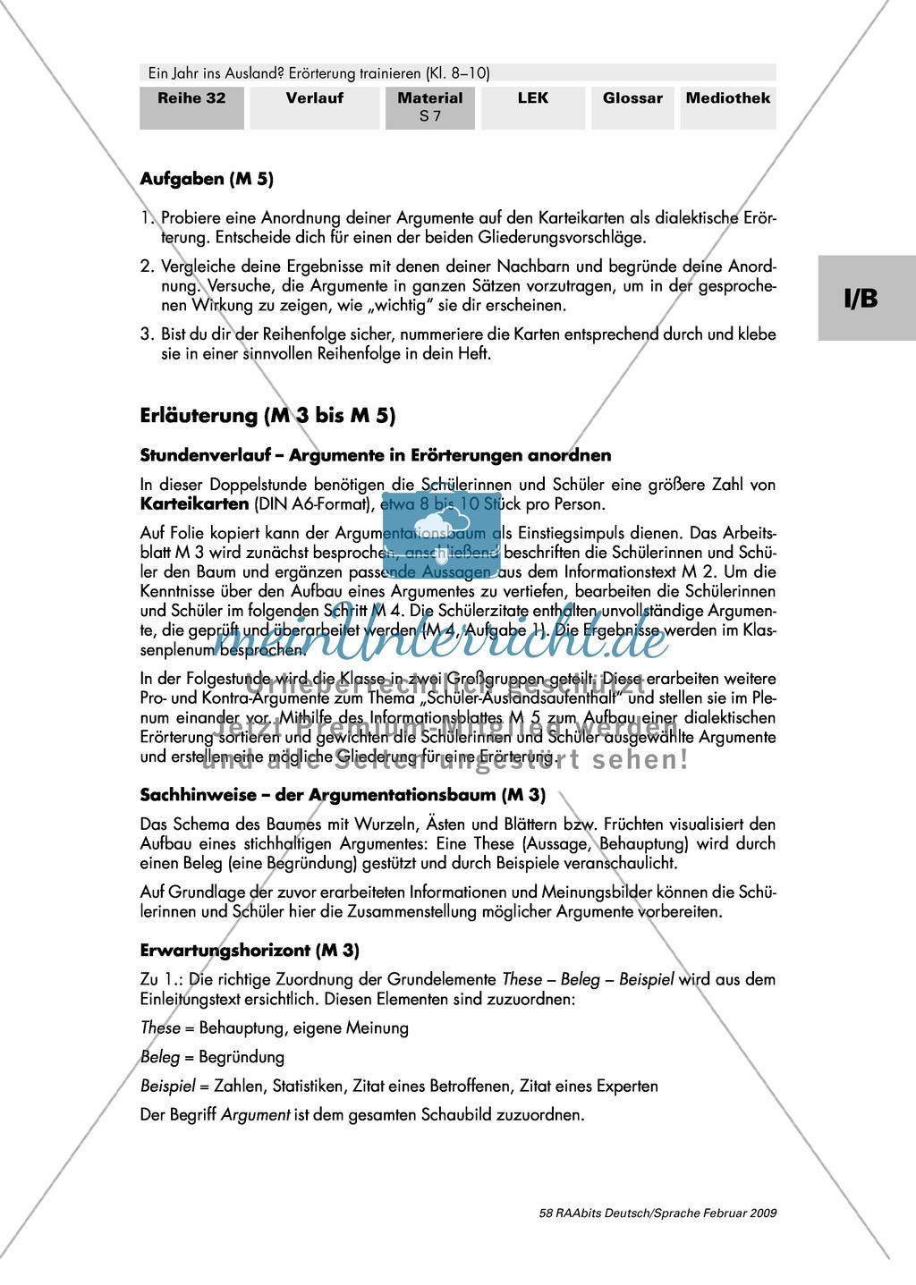 argumente in errterungen anordnen argumentationsbaum aufbau einer dialektischen errterung preview 3 - Dialektische Erorterung Muster