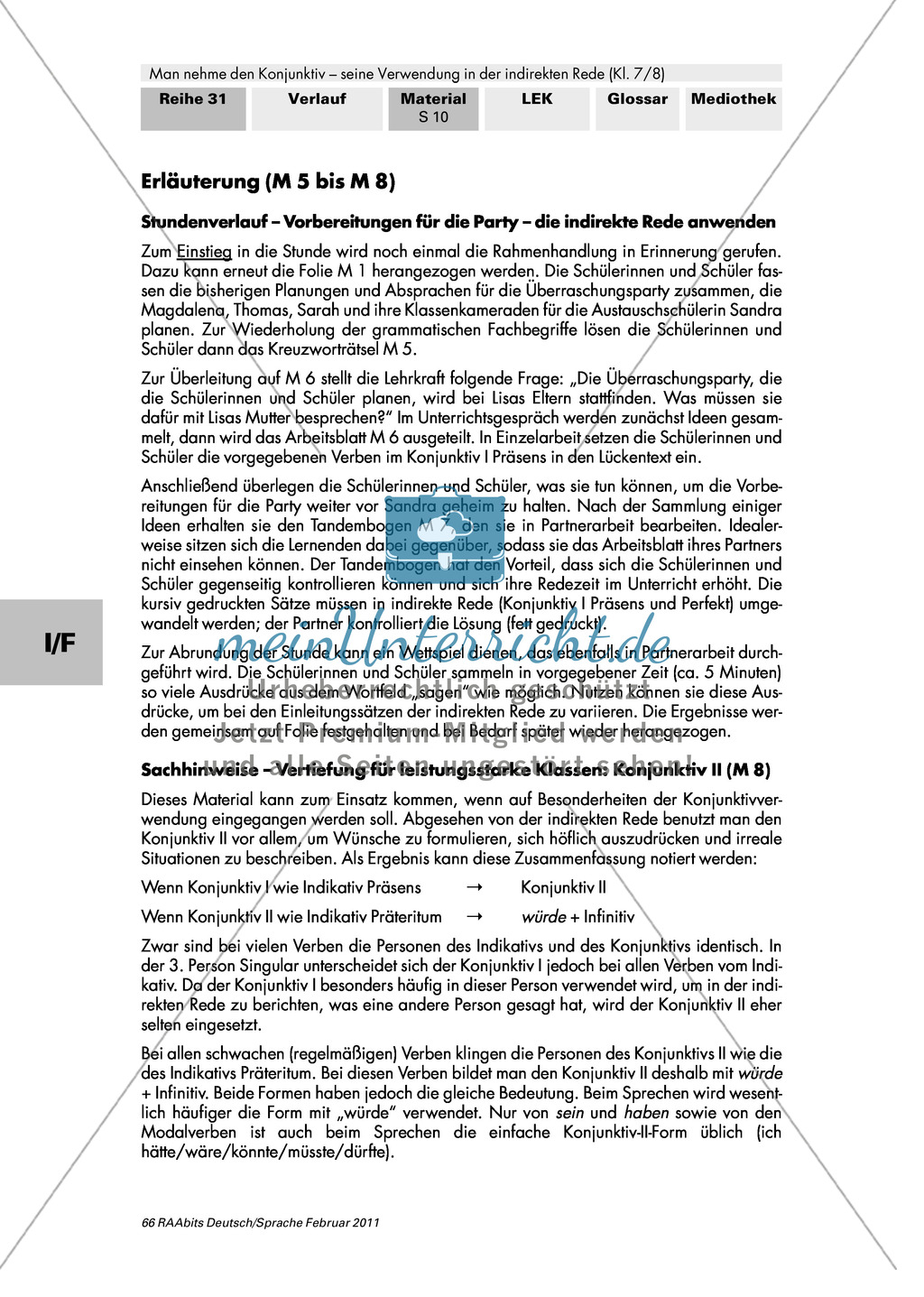 Indirekte Rede anwenden + Konjunktiv II Preview 4