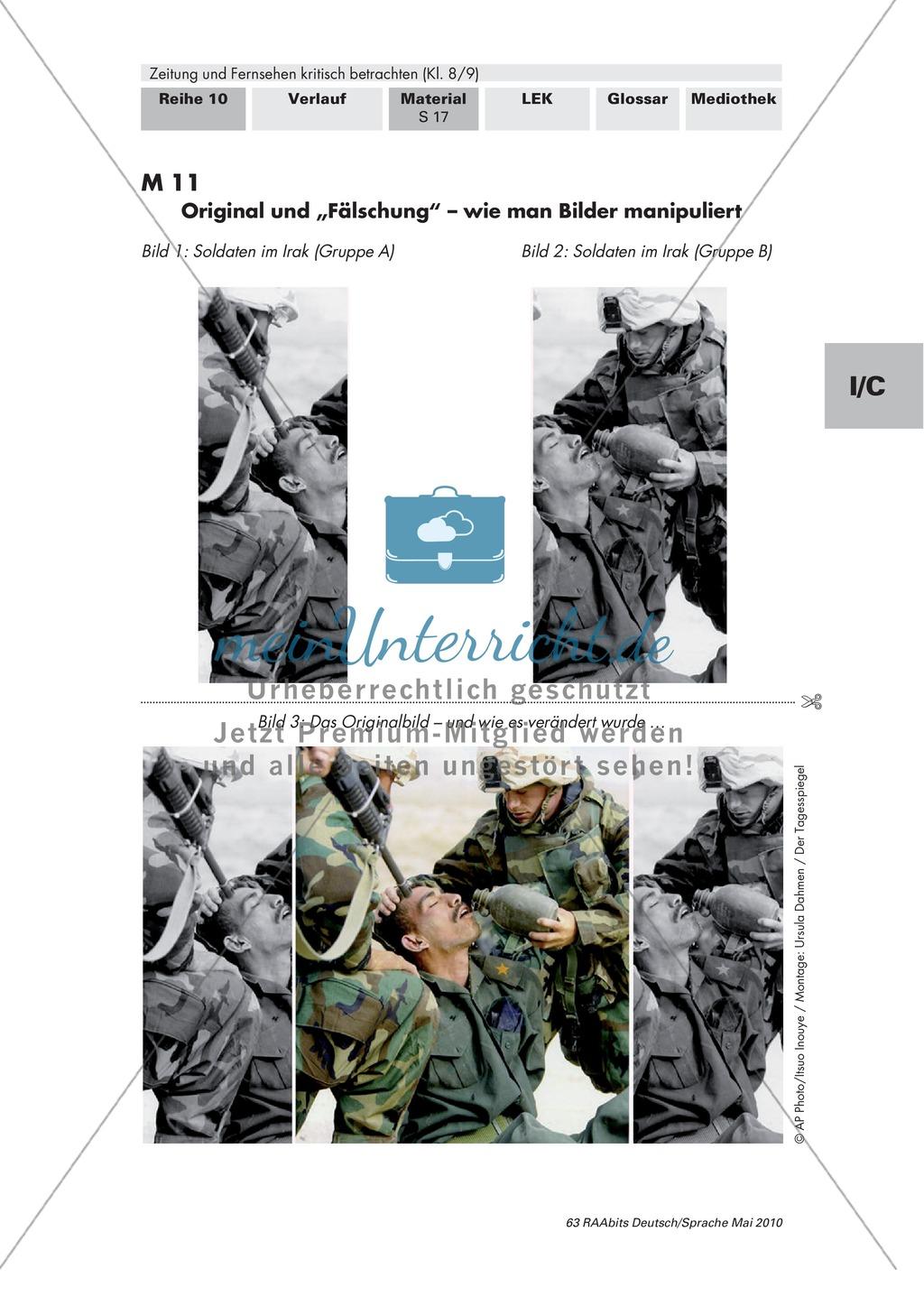 Titelseite einer Tageszeitung und Wirkung der Bilder Preview 7