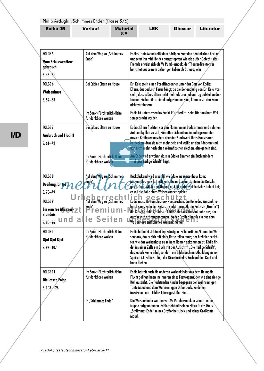 """Philip Ardagh """"Schlimmes Ende"""": Erwartungen an die Lektüre formulieren und den Beginn der Geschichte kennen lernen Preview 6"""