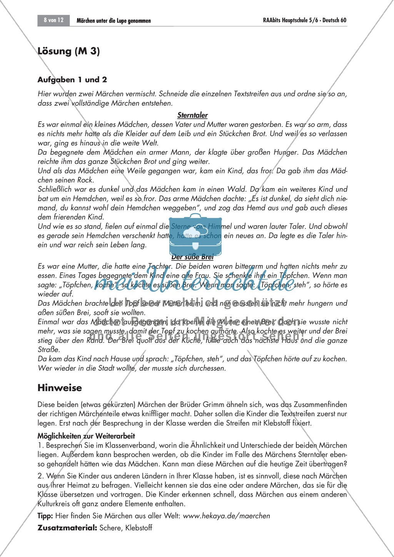 Es war einmal... - Märchen untersuchen: Merkmale + kreativer Umgang Preview 8