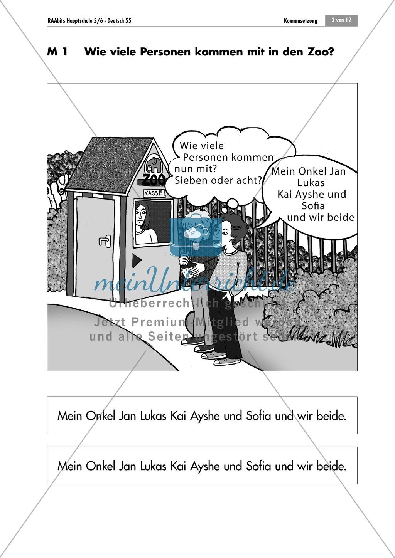 Lernzirkel zur Kommasetzung bei Aufzählungen Preview 2